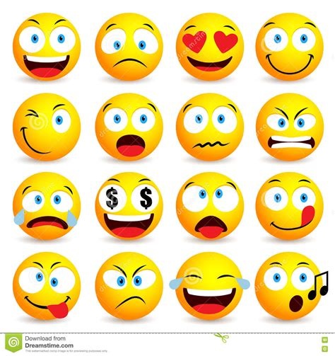 smiley face  emoticon simple set  facial