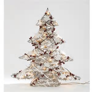 buy giftworks 60cm rattan christmas tree with lights online at bakers larners