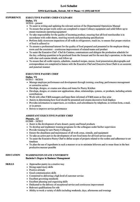 executive pastry chef sle resume sle sales rep