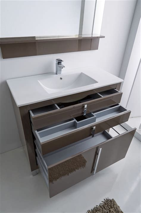 Roma Vanities roma bathroom vanity 40 quot taupe high gloss lacquered