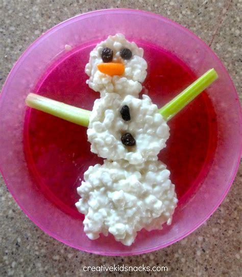 healthy snacks 987   Snowman