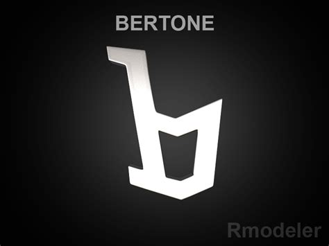 Bertone Logo by Bertone 3d Logo 3d Model