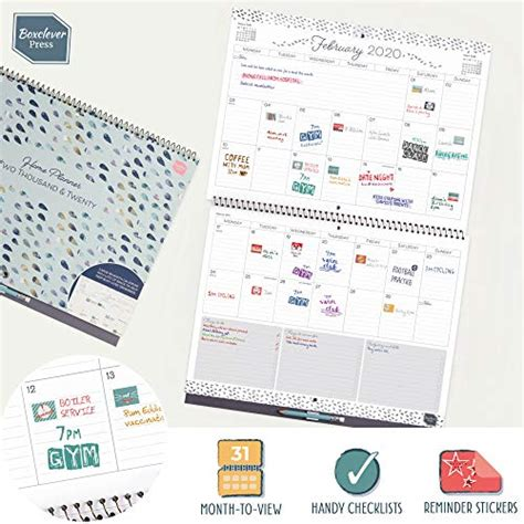 boxclever press home planner wall calendar month view