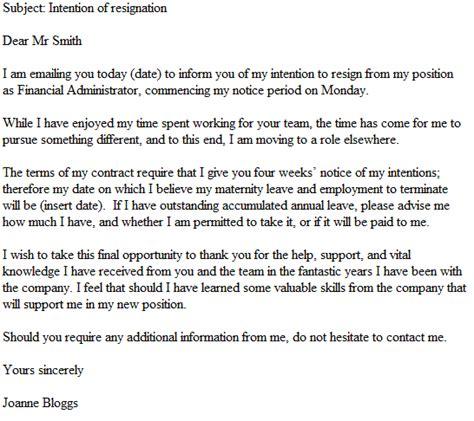 email resignation letter  resignletterorg