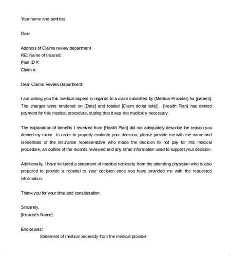 Insurance denial letter template inspirational best s of medical. Medical Appeal Letter | templatescoverletters.com