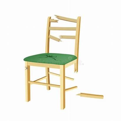 Broken Chair Wooden Clipart Seat Legno Sedia