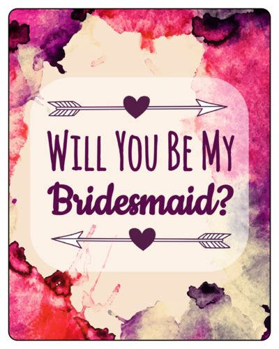 Will You Be My Bridesmaid Wine Label Template by Watercolor Bridesmaid Wine Bottle Label Label Templates