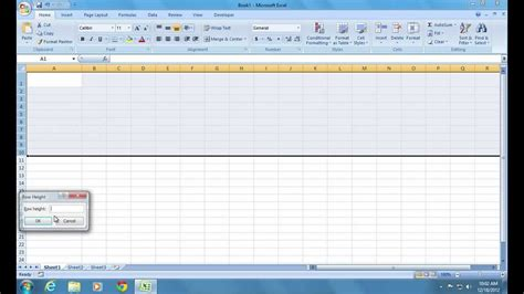 how to make excel 2007 cell bigger