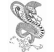 King Cobra Coloring Page