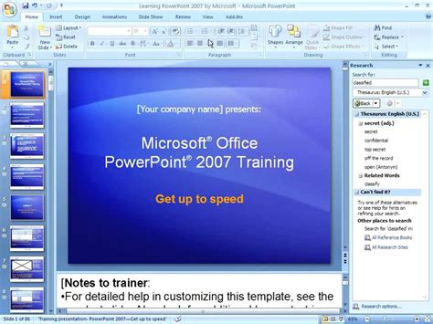 powerpoint  working  speaker notes youtube