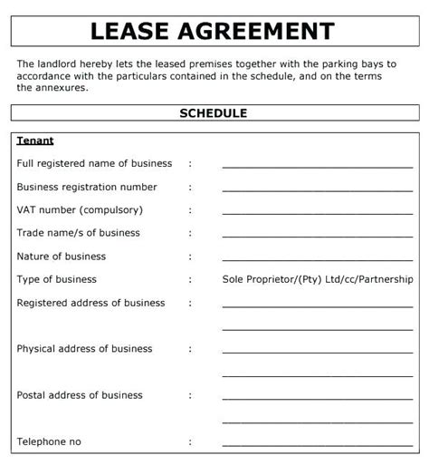 commercial lease contract