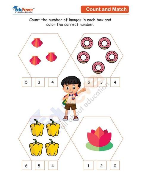class ukg count  number  image worksheet