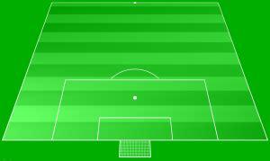 ein fussballspielfeld als ideale bildmetapher