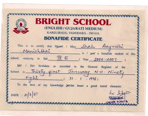 write  letter   bonafide certificate life