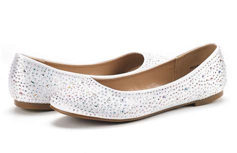 Soleshine Women's Casual Rhinestone Solid Ballet Comfort