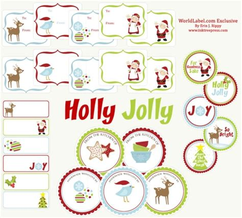 free christmas labels labels for free by ink tree press worldlabel
