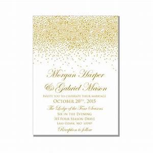 printable wedding invitation gold wedding gold With golden wedding invitations free downloads