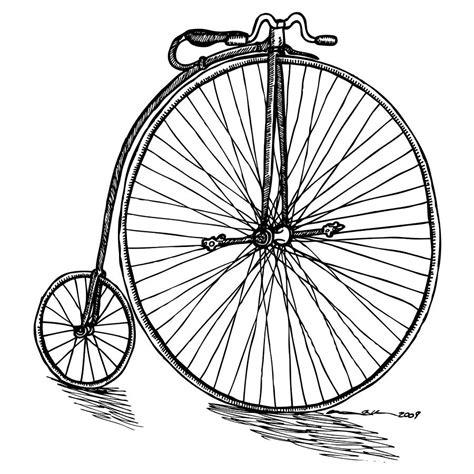 boneshaker bicycle drawing  karl addison