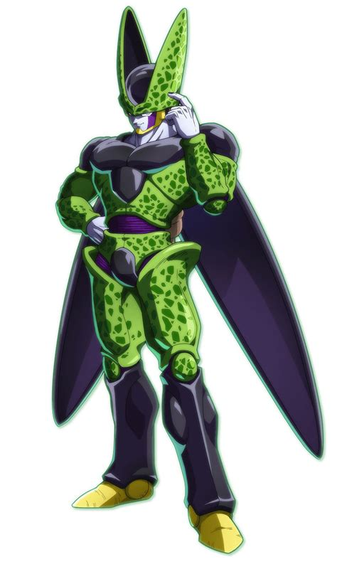cell characters art dragon ball fighterz