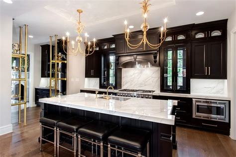 Black And White Marble Countertops Incredible Kitchen