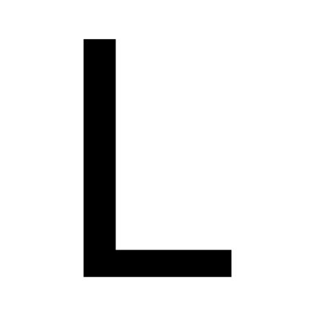 a l in the file letterl svg wiktionary