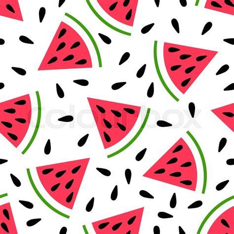 cute seamless watermelon pattern  stock vector