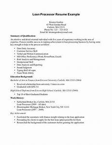 mortgage loan processor resume example source With mortgage loan processor resume template