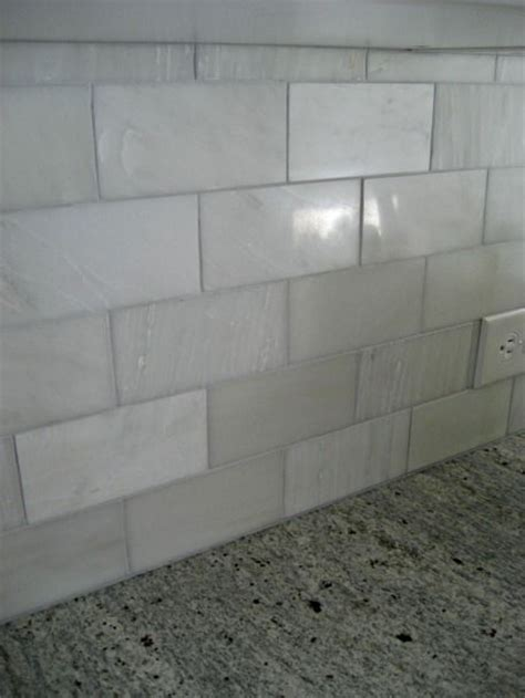 how to install a marble tile backsplash