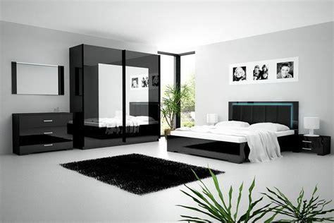 le pour chambre a coucher chambre adulte ensemble chambre 224 coucher noir laqu 233 avec 233 clairage led comforium