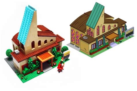 la maison des lego church comp by pax the simpsons lego gallery