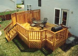 14 x 20 deck with grill area building plans only at menards 174