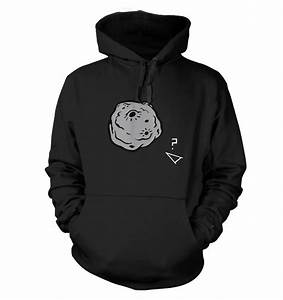Retro 2D Arcade Spaceship v Real 3D Asteroid hoodie ...