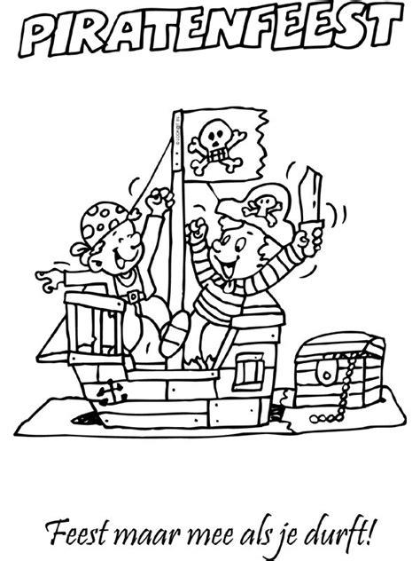 Kleurplaat Praten 2 Personen by Kleurplaat Uitnodiging Piraten Kleurplaten