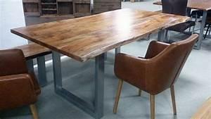 Tischplatte Massivholz Baumkante : esstisch kerala massivholz akazie 200x100 cm mit baumkante ~ Indierocktalk.com Haus und Dekorationen