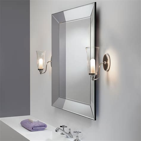 astro biarritz polished chrome bathroom wall light  uk