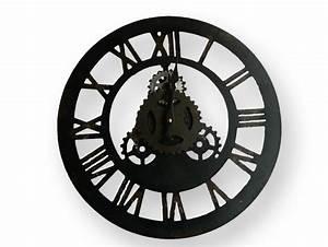Horloge Pas Cher : horloge murale ronde en fer forge et ses chiffres romains pas chere ~ Teatrodelosmanantiales.com Idées de Décoration