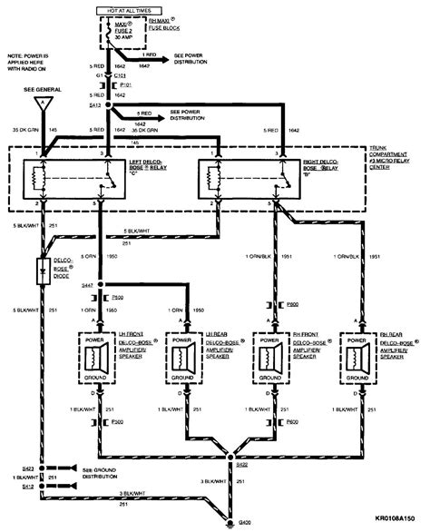 1994 Cadillac Wire Diagram by 1994 Cadillac Speaker Wiring Diagram Diagrams