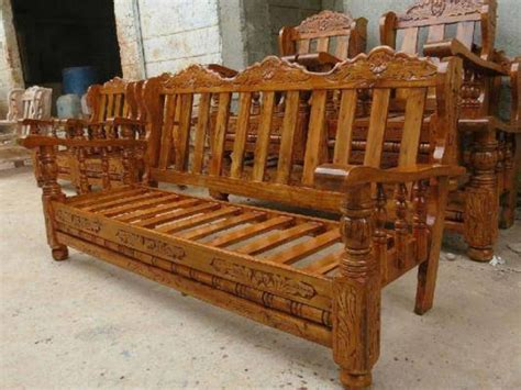 Sofa Set Made Of Wood by Wooden Furniture Sofa Wooden Sofa Set Search
