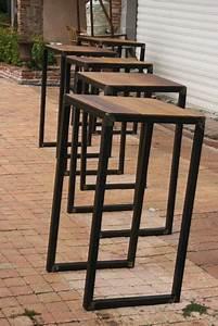 table bistro mange debout meuble industriel style