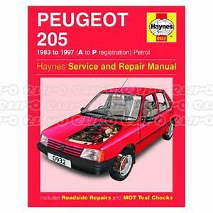 Haynes Workshop Manual Peugeot 205 Petrol  83