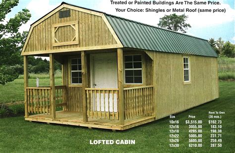 built rite sheds indiana lofted cabin 171 and mike s barn sales