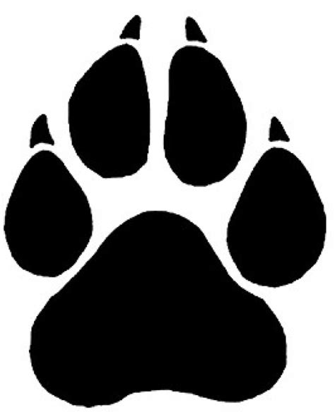 cheetah paw print template