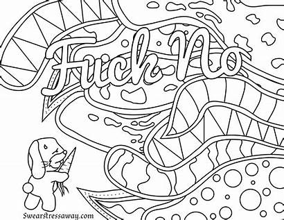 Coloring Word Pages Swear Adult Printable Cuss