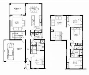 4 Bedroom 2 Story House Floor Plans Unique Two Story 4 ...