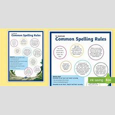 Qld * New * Y5 Naplan Common Spelling Rules Poster