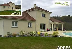Aménagement Extérieur Maison : am nagement ext rieur devant une maison monjardin ~ Farleysfitness.com Idées de Décoration