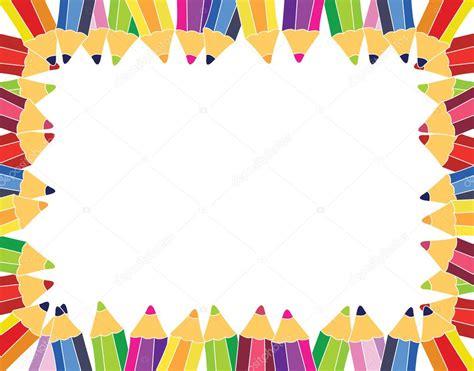 pencils frame stock vector  annata