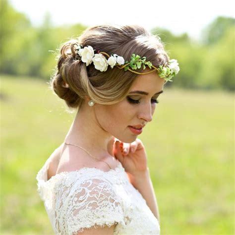 flower crown wedding headpiece woodland flower bridal