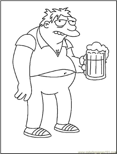 barney gumble coloring page  barney coloring pages