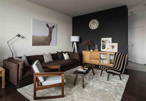 Brown Living Room Floor Ls by Naturalistic Scandinavian Style Apartment Reminding Of
